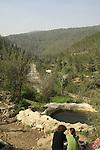 Israel, Ein El Kaf, a spring in Jerusalem mountains