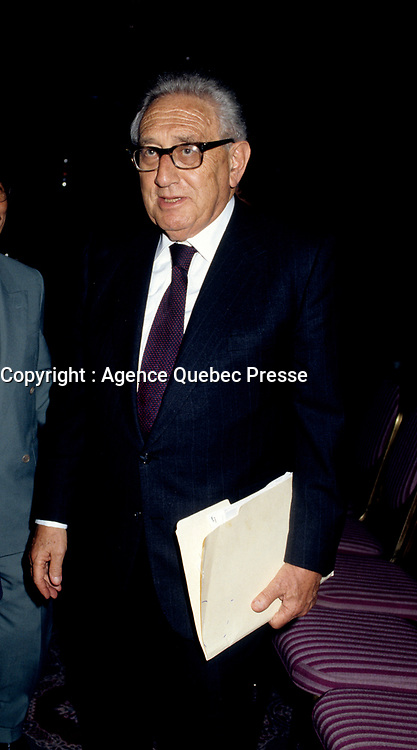 Henry Kissinger, crica 1996<br /> (exact date unknown)<br /> PHOTO : Agence Quebec Presse