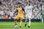 Igor de Camargo (l) of APOEL FC in action during the UEFA Champions League 2017-18 match between Real Madrid and APOEL FC at Estadio Santiago Bernabeu on 13 September 2017 in Madrid, Spain. Photo by Diego Gonzalez / Power Sport Images