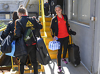 20190306 - LARNACA , CYPRUS :  Belgian Janice Cayman (r) pictured during a women's soccer game between  Austria and the Belgian Red Flames  , on wednesday 6 March 2019 at the GSZ  Stadium in Larnaca , Cyprus . This is the last game for both teams during the Cyprus Womens Cup 2019 which decides places 3 or 4, The Cyprus Women's cup is a prestigious women soccer tournament as a preparation on the Uefa Women's Euro 2021 qualification duels. PHOTO SPORTPIX.BE | DAVID CATRY