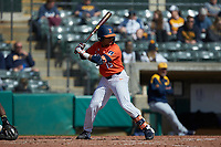 TaylorJackson (15) of the Illinois Fighting Illini at bat against the West Virginia Mountaineers at TicketReturn.com Field at Pelicans Ballpark on February 23, 2020 in Myrtle Beach, South Carolina. The Fighting Illini defeated the Mountaineers 2-1.  (Brian Westerholt/Four Seam Images)