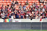 Houston, TX - Sunday Oct. 09, 2016: Washington Spirit fans during a National Women's Soccer League (NWSL) Championship match between the Washington Spirit and the Western New York Flash at BBVA Compass Stadium.