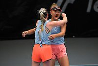 Women's Doubles final - Tabitha Porter and Vivian Zixuan Yang v Stella Cliffe and Sarah Kate Weekley. 2020 New Zealand Championships Wellington Tennis Open finals at Renouf Centre in Wellington, New Zealand on Sunday, 20 December 2020. Photo: Dave Lintott / lintottphoto.co.nz