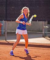 Netherlands, Rotterdam August 07, 2015, Tennis,  National Junior Championships, NJK, TV Victoria, Carmen van Poelgeest<br /> Photo: Tennisimages/Henk Koster