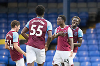 Ademipo Odubeko, West Ham U21's celebrates his second goal during Southend United vs West Ham United Under-21, EFL Trophy Football at Roots Hall on 8th September 2020
