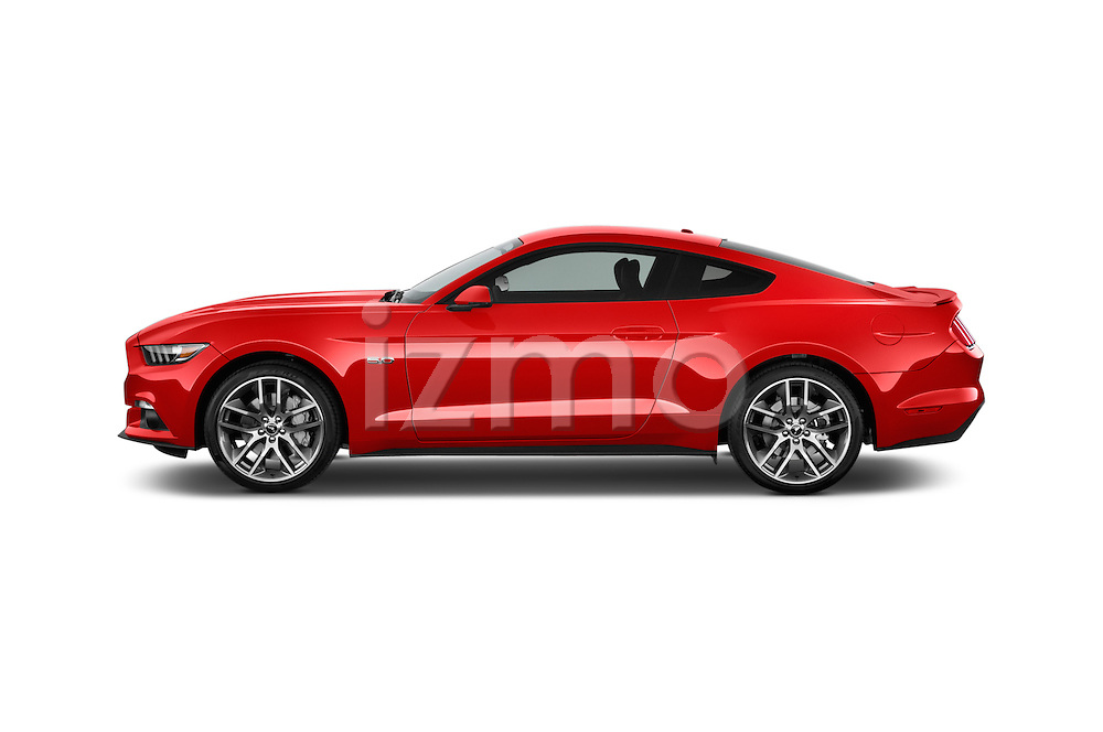 Car driver side profile view of a 2017 Ford Mustang GT Premium 2 Door Coupe