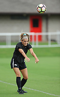 NWA Democrat-Gazette/ANDY SHUPE<br /> Arkansas junior Reid Sibley takes part in practice Wednesday, Aug. 16, 2017, at Razorback Field in Fayetteville. The Razorbacks enter the season ranked 17th and are coming off a year they finished No. 19, made the SEC tournament finals and won a match in the NCAA Tournament.