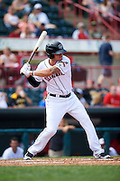 Erie Seawolves shortstop JaCoby Jones (12) at bat during a game against the Harrisburg Senators on August 30, 2015 at Jerry Uht Park in Erie, Pennsylvania.  Harrisburg defeated Erie 4-3.  (Mike Janes/Four Seam Images)