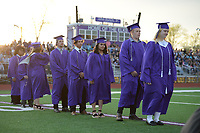 Friday, May 14, 2021, during commencement exercises at the school's football field. The school graduated 95 seniors. Visit nwaonline.com/210515Daily/ for today's photo gallery. <br /> (NWA Democrat-Gazette/Andy Shupe)