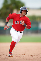 GCL Red Sox catcher Alberto Schmidt (41) running the bases during the second game of a doubleheader against the GCL Rays on August 9, 2016 at JetBlue Park in Fort Myers, Florida.  GCL Rays defeated GCL Red Sox 9-1.  (Mike Janes/Four Seam Images)