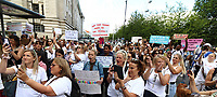 Save Our Children Protest against Worldwide Children Trafficking from the London Eye to Westminster, London on August 22nd 2020<br /> <br /> Photo by Keith Mayhew