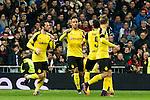 Borussia Dortmund Pierre Aubameyang, Marc Bartra during Champions League match between Real Madrid and Borussia Dortmund  at Santiago Bernabeu Stadium in Madrid , Spain. December 07, 2016. (ALTERPHOTOS/Rodrigo Jimenez)
