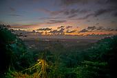 Rio Grande, El Yunque National Forest, Puerto Rico<br /> September 8, 2021<br /> <br /> Sunset on the El Yunque National Forest with<br /> Rio Grande in the back ground.