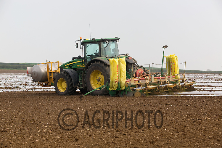 Drilling Maize In Leicstershire