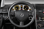 Steering wheel view of a 2009 Mercedes A Class Blue Efficiency 3 Door Mini MPV