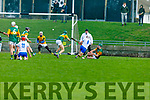 Kerry defence under attack as Mark O'Brien of Waterford takes his shot, in the Munster Senior Hurling League in Austin Stack Park on Sunday