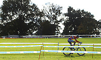 03 NOV 2012 - IPSWICH, GBR - Mathieu van der Poel (NED) of the Netherlands makes his way round the course during the Junior Men's European Cyclo-Cross Championships in Chantry Park, Ipswich, Suffolk, Great Britain (PHOTO (C) 2012 NIGEL FARROW)