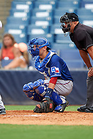 Paul Gozzo (4) of Mark T. Sheehan High School in Wallingford, Connecticut playing for the Texas Rangers scout team during the East Coast Pro Showcase on July 28, 2015 at George M. Steinbrenner Field in Tampa, Florida.  (Mike Janes/Four Seam Images)