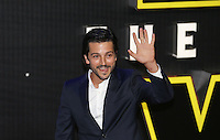 Diego Luna attends the STAR WARS: 'The Force Awakens' EUROPEAN PREMIERE at Odeon, Empire & Vue Cinemas, Leicester Square, England on 16 December 2015. Photo by David Horn / PRiME Media Images