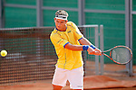 Colombia's Nicolas Mejia during Junior Davis Cup 2015 match. September  30, 2015.(ALTERPHOTOS/Acero)