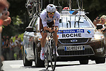 Nicolas Roche (IRL) AG2R La Mondiale in action during Stage 19 of the 2010 Tour de France an individual time trial running 52km from Bordeaux to Pauillac, France. 24th July 2010.<br /> (Photo by Eoin Clarke/NEWSFILE).<br /> All photos usage must carry mandatory copyright credit (© NEWSFILE | Eoin Clarke)