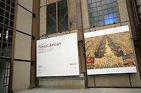 Yuksel Arslan exhibition advertised at Santral art gallery, Istanbul, Turkey