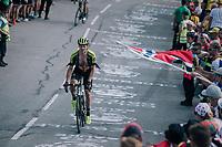 """Michael Hepburn (AUS/Mitchelton Scott) coming through """"Dutch Corner"""" (#7) on Alpe d'Huez<br /> <br /> Stage 12: Bourg-Saint-Maurice / Les Arcs > Alpe d'Huez (175km)<br /> <br /> 105th Tour de France 2018<br /> ©kramon"""