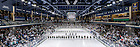 February 4, 2017; Compton Family Ice Arena during the national anthem before the Hockey game against Vermont. (Photo by Matt Cashore/University of Notre Dame)