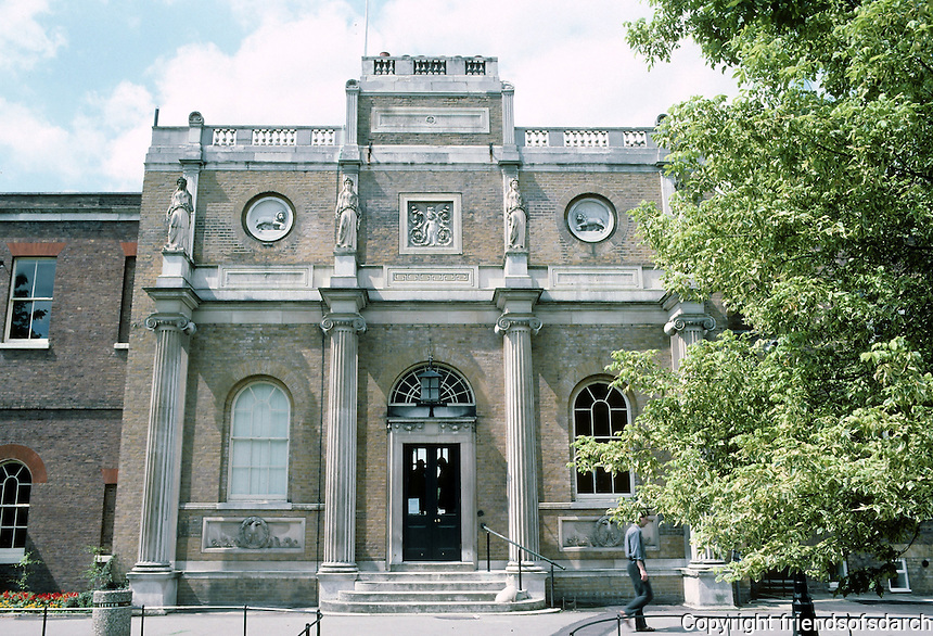 Sir John Soane: Pitshanger Manor, Soane's facade 1800-1810. Owned and rebuilt by Soane for his own home. Photo '87.