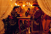 Revelers at Caffe Florian, Camevale, Venice, Italy