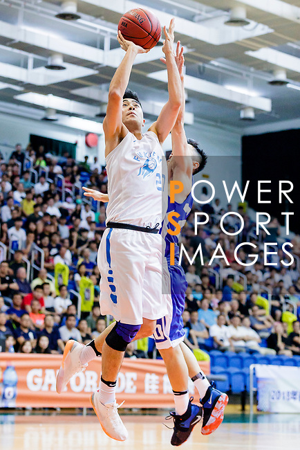 Lo Taylor Koon Kiu #27 of Fukien Basketball Team tries to score against the Eastern Long Lions during the Hong Kong Basketball League game between Fukien and Eastern Long Lions at Southorn Stadium on June 19, 2018 in Hong Kong. Photo by Yu Chun Christopher Wong / Power Sport Images