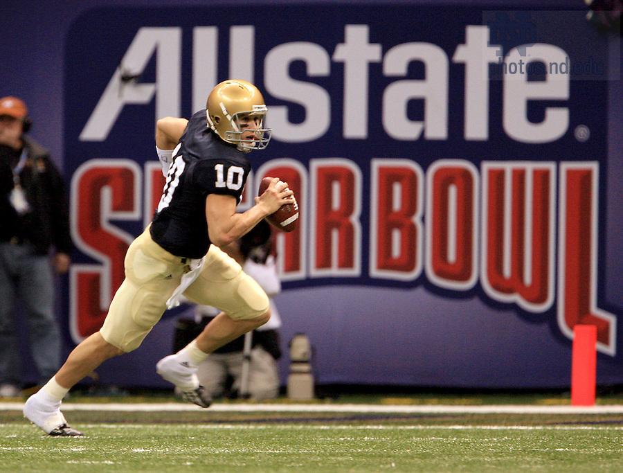 Brady Quinn in the 2007 Sugar Bowl