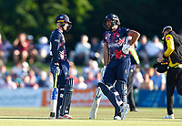 Jordan Cox (L) and Jack Leaning of Kent during Kent Spitfires vs Gloucestershire, Vitality Blast T20 Cricket at The Spitfire Ground on 13th June 2021