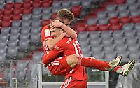 06.03.2021, Fussball 1. Bundesliga 2020/2021, 24. Spieltag, FC Bayern München - Borussia Dortmund, in der Allianz-Arena München. Jubel (L-R) Joshua Kimmich (Bayern München) und Torschütze Leon Goretzka (Bayern München) zum Tor zum 3:2<br /> <br /> Foto: Bernd Feil/M.i.S./Pool<br /> <br /> Nur für journalistische Zwecke! Only for editorial use! <br /> DFL regulations prohibit any use of photographs as image sequences and/or quasi-video.    <br /> National and international NewsAgencies OUT. <br /> Bundesliga 2020/2021 <br /> photo Imago/Insidefoto <br /> ITALY ONLY