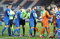 Handshakes during the Sky Bet League 1 match between Rochdale and Plymouth Argyle at Spotland Stadium, Rochdale, England on 15 December 2018. Photo by James  Gill / PRiME Media Images.