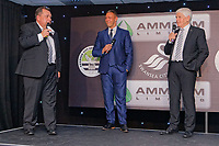 Pictured: (L-R) Kev Johns, Lee Trundle and Wyndham Evans. Wednesday 02 May 2018<br /> Re: Swansea City AFC Official Player Of The Season Awards Dinner 2018 at the Liberty Stadium, Wales, UK.