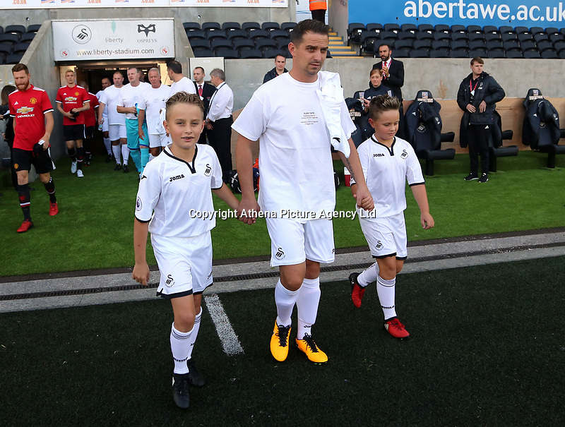 Ferrie Bodde of Swansea Legends exits the tunnel during the Alan Tate Testimonial Match, Swansea City Legends v Manchester United Legends at the Liberty Stadium, Swansea, Wales, UK