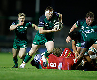 14th November 2020; Galway Sportsgrounds, Galway, Connacht, Ireland; Guinness Pro 14 Rugby, Connacht versus Scarlets; Shane Delahunt on an attacking run for (Connacht)