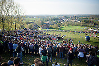 quite a crowd on this warmest november 1st ever recorded up the Koppenberg<br /> <br /> Koppenbergcross 2014