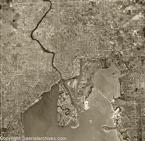 historical aerial photograph