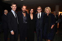 """NEW YORK CITY - OCTOBER 4: (L-R) Craig Erwich, President, Hulu & ABC Entertainment, Peter Sarsgaard, Maggie Gyllenhaal, Executive Producers Warren Littlefield and Beth Macy attend the red carpet premiere of Hulu's """"DOPESICK"""" at the Museum of Modern Art on October 4, 2021 in New York City. . (Photo by Frank Micelotta/Hulu/PictureGroup)"""