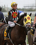 March 29,  2014: General a Rod with Joel Rosario on board in post parade for the Florida Derby at Gulfstream Park in Hallandale Beach,  FL. Liz Lamont/ESW/CSM