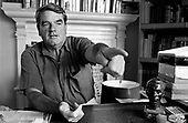 David Irving, revisionist historian, in the Belgravia flat he was forced to sell following the failure of his libel action against Deborah Lipstadt.