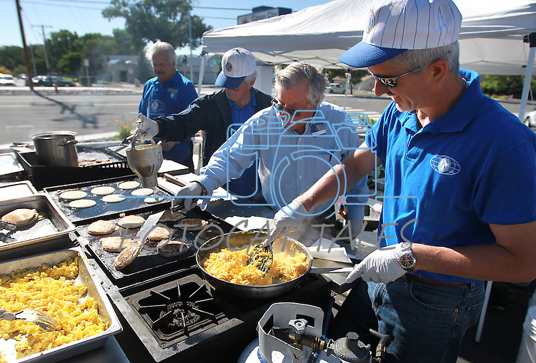 Kiwanis cook at the Carson City Library Summer Reading Program Pancake Breakfast Kick-Off, Saturday, June 9, 2012. .Photo by Cathleen Allison