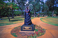 Statue of Queen Kapiolani at Kapiolani Park