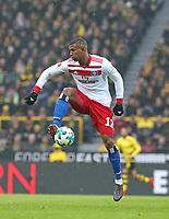 10.02.2018, Football 1. Bundesliga 2017/2018, 22.  match day, Borussia Dortmund - Hamburger SV, Signal-Iduna-Park Dortmund. Walace (Hamburg)  *** Local Caption *** © pixathlon<br /> Contact: +49-40-22 63 02 60 , info@pixathlon.de