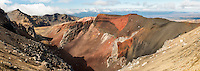 Red Crater on Tongariro Alpine Crossing Track Tongariro Nationasl Park, Central Plateau, North Island, UNESCO World Heritage Area, New Zealand, NZ