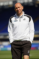 Adrian Tucker, goalkeeping coach for Swansea walks on the pitch prior to the Sky Bet Championship match between Ipswich Town an Swansea City at Portman Road Stadium, Ipswich, England, UK. Monday 22 April 2019