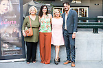"Terele Pavez, the director of the film Marina Seresesky, Carmen Machi and Asier Etxeandia during the presentation of the spanish film "" La Puerta Abierta"" in Madrid. August 31, Spain. 2016. (ALTERPHOTOS/BorjaB.Hojas)"