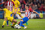 Filipe Luis of Atletico de Madrid fights for the ball with Timofei Kalachev of FC Rostov during their 2016-17 UEFA Champions League match between Atletico Madrid and FC Rostov at the Vicente Calderon Stadium on 01 November 2016 in Madrid, Spain. Photo by Diego Gonzalez Souto / Power Sport Images